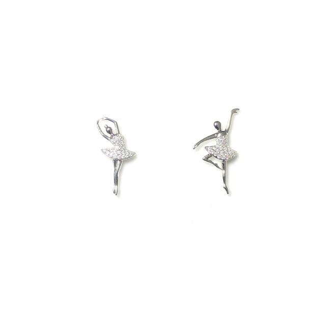 Microscope Zircon Ballet Stud Earrings 2006020