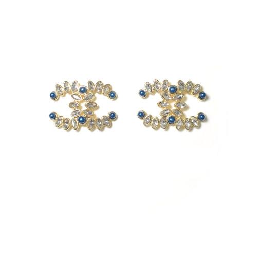 Zircon Double C Stud Earrings 2006001