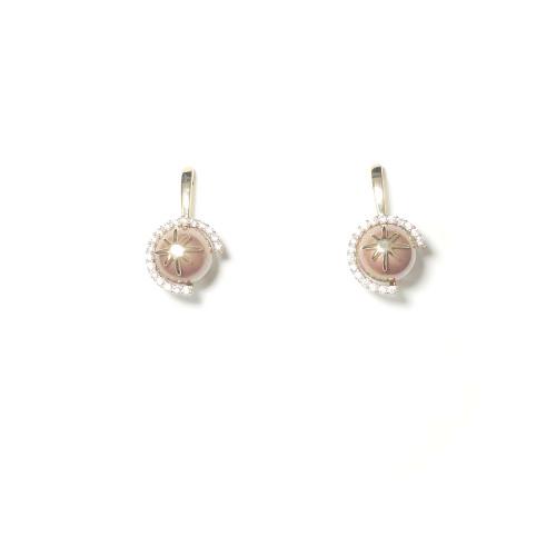 Pink Pearl Stud Earrings 2006002