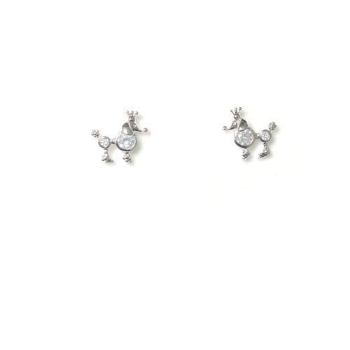 Zircon Dog Stud Earrings 2006025