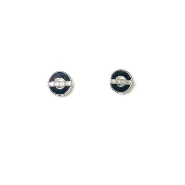 Black Simple Stud Earrings 2006006