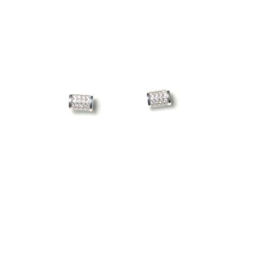 Microscope Zircon Cylinder Stud Earrings 2006024