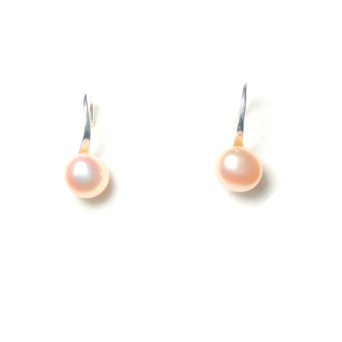 High-heeled Shoes of Pink Freshwater Pearl Stud Earrings 2006041