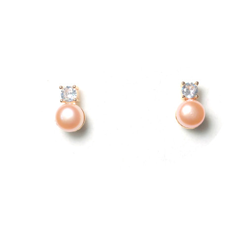 Ball of Pink Freshwater Pearl Stud Earrings 2006040