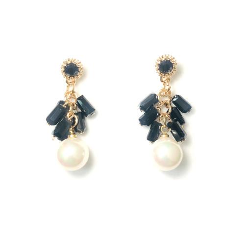 Black Mother of Pearl Drop Earrings 2006080