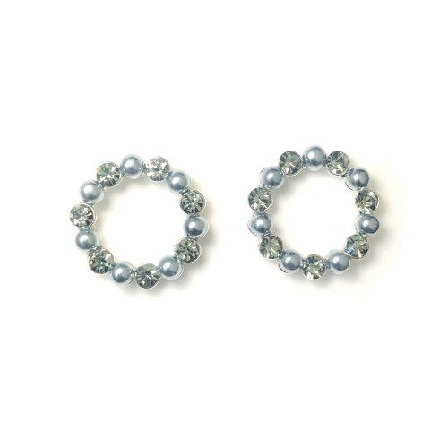 Garland of Vintage Austrian Crystal Stud Earrings 2006082