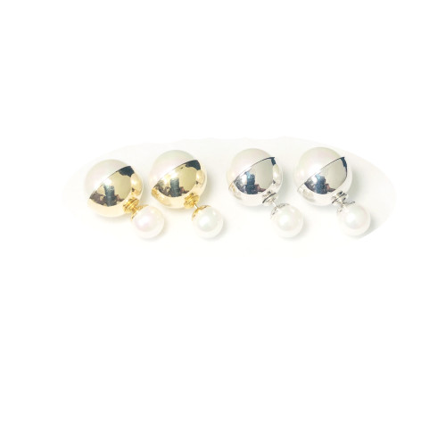 Mother of Pearl Earrings Jacket in Gold Silver 2006085