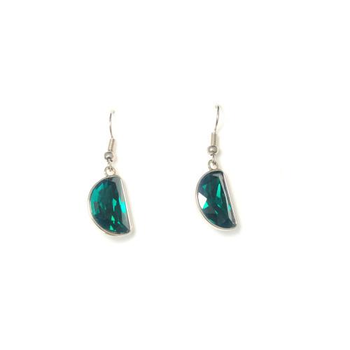 Green Swaro Crystal Drop Earrings 2006081