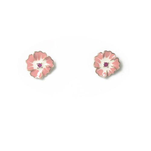 Pink Flower Stud Earrings 2006098