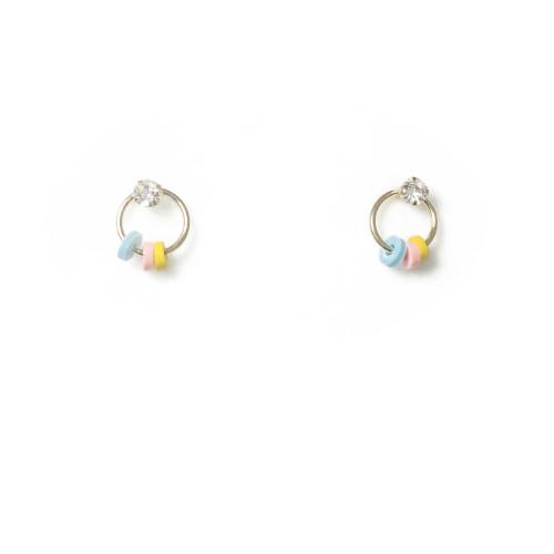 Color Garland Stud Earrings 2006112