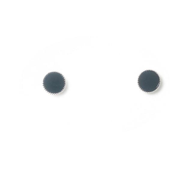 Simple Black Stud Earrings 2006126