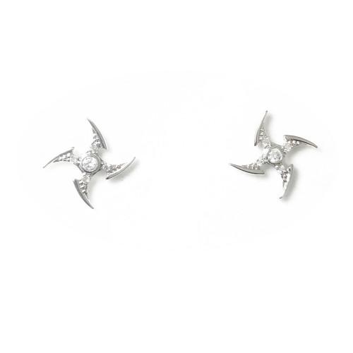 Darts of Microscope Zircon Earrings  Jacket 2006117