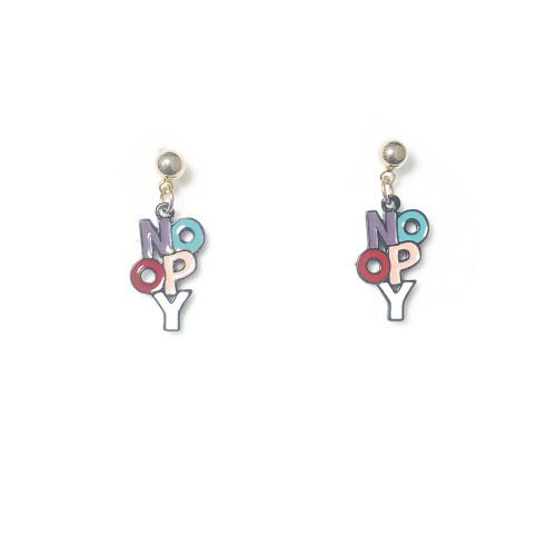 Color Letter Drop Earrings 2006101