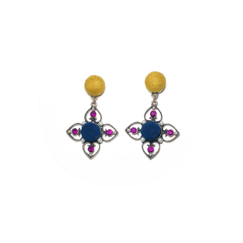 Yellow Flower of Lint Drop Earrings 201001