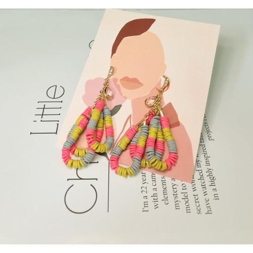 Color Tear of Rubber Drop Earrings 201019