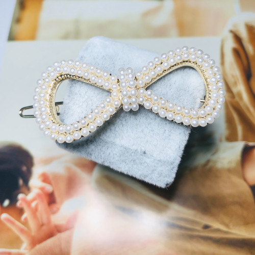 Bowknot of Pearl Hair Clips 201101