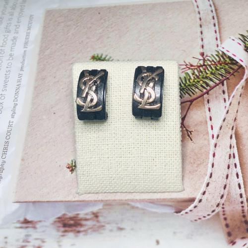 Black Vintage Style Stud Earrings 201141