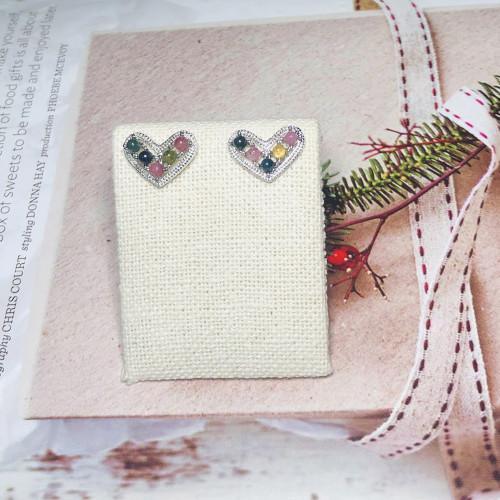 Heart of Tourmaline Vintage Style Drop Earrings 201143