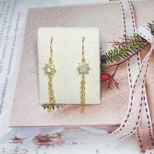 Opal Vintage Style Drop Earrings 201144