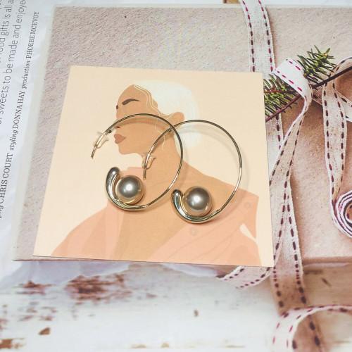 Ball Vintage Style Open Hoop Earrings 201155