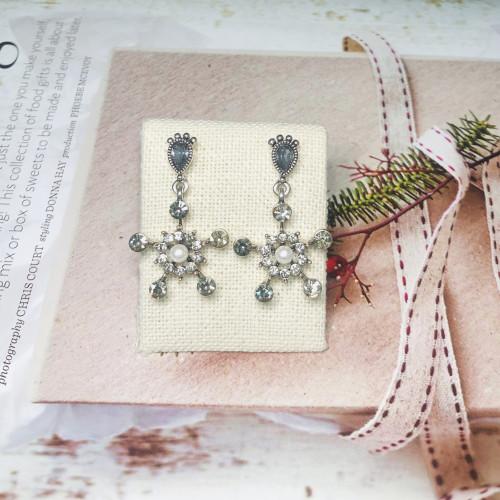Star and Footprint Vintage Style Drop Earrings 201163
