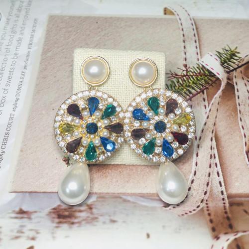 Heavy 50g Pearl Drop Earrings 201168