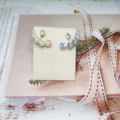 Pearl and Crystal Vintage Style Earrings Jackets 201179