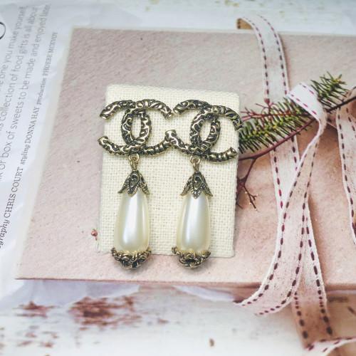 Pearl Vintage Style Drop Earrings 201156