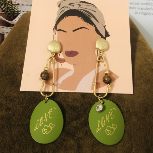 Matte Gold Plating Normcore Style Drop Earrings 2011121