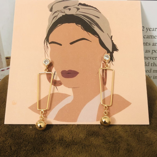 Gold Plating Normcore Style Drop  Earrings 2011114