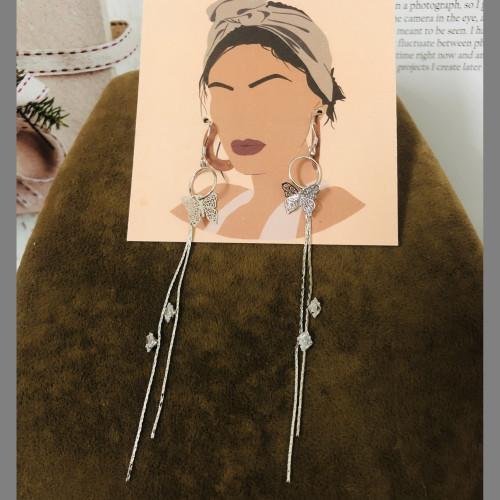 Silver Plating Normcore Style Tassel Earrings 2010132