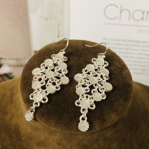 Silver  Plating Normcore Style Drop Earrings 2010133