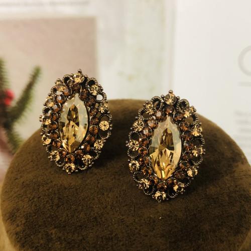 Yellow Swaro Crystal Stud Earrings 2007013