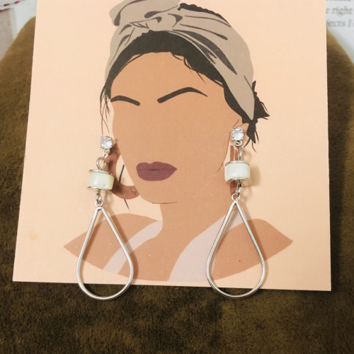 Silver Plating Normcore Style Drop Earrings 2011132