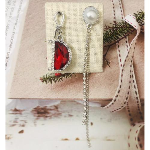 Red Swaro Crystal Drop Earrings 2011156