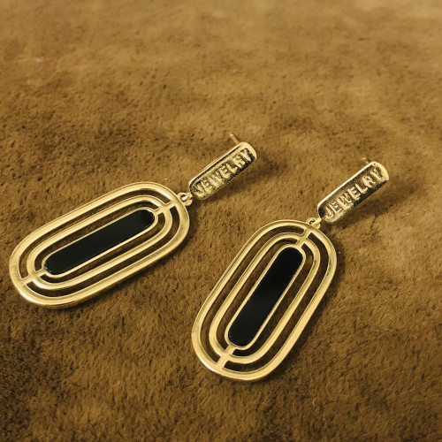 Gold Plating Normcore Style Drop Earrings 2011118