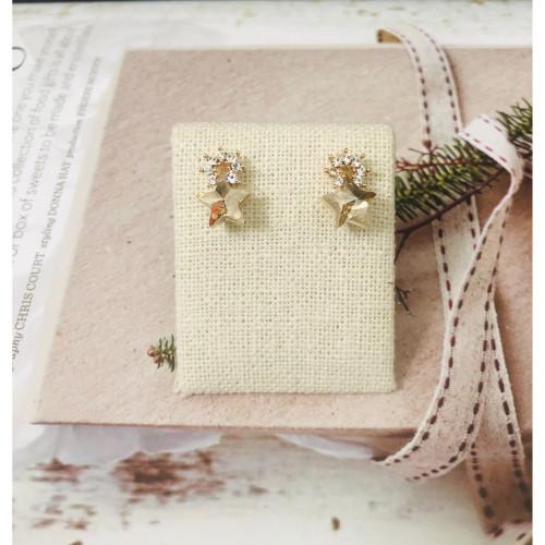 Yellow Star Swaro Crystal Stud Earrings 2011149
