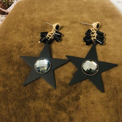 Black Star Plating Normcore Style Drop Earrings 2011120