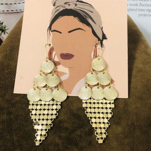Matte Gold Plating Normcore Style Drop Earrings 2011134