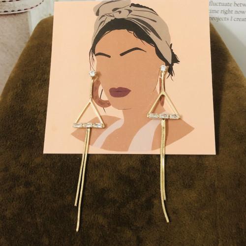Gold Plating Normcore Style Tassel Earrings 2011130
