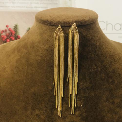 Gold Plating Normcore Style Tassel Earrings 201197