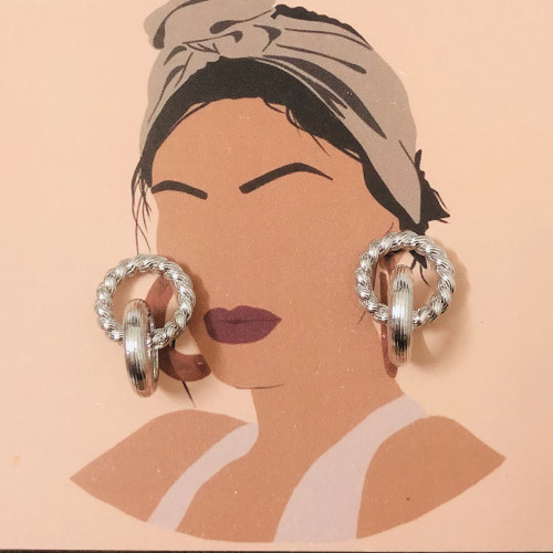 Silver Plating Normcore Style Stud Earrings 2011117