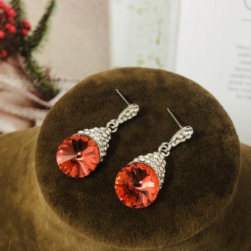 Red Swaro Crystal Stud Earrings 2011144