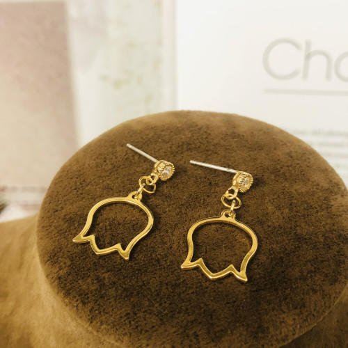 Gold Rose Plating Normcore Style Drop Earrings 2011125