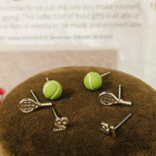 Green Baseball Earrings Set 2006028