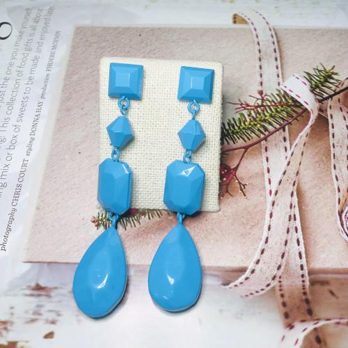 Blue Fashion Style Drop Earrings 2011160