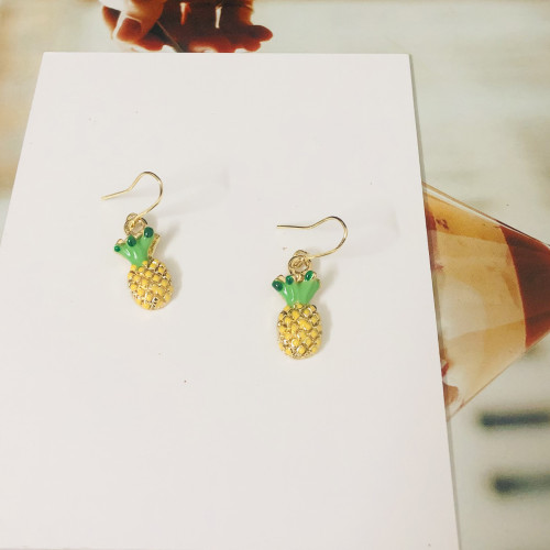 Yellow  Pineapple Fashion Style Drop Earrings 2011168