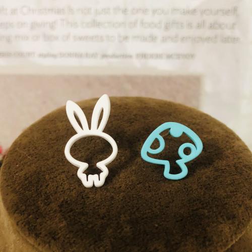 Asymmetrical Style Rabbit Stud Earrings 2006111