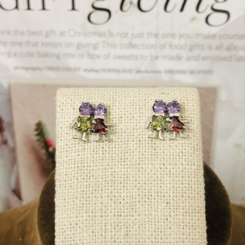 Lover of Color Zircon Fashion Style Stud Earrings 2011176