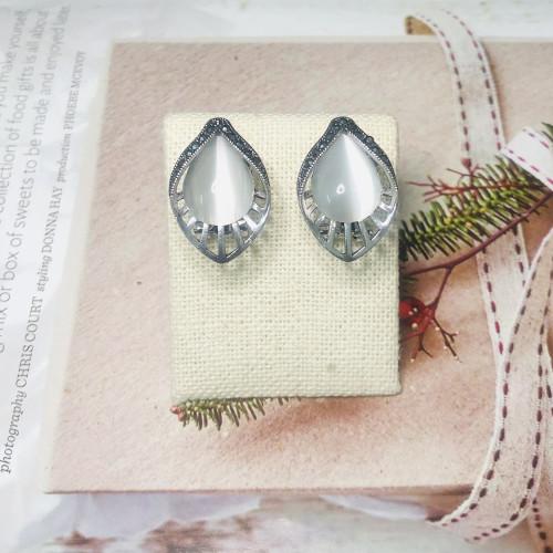 Gray Opal Vintage Style Drop Earrings 2011226